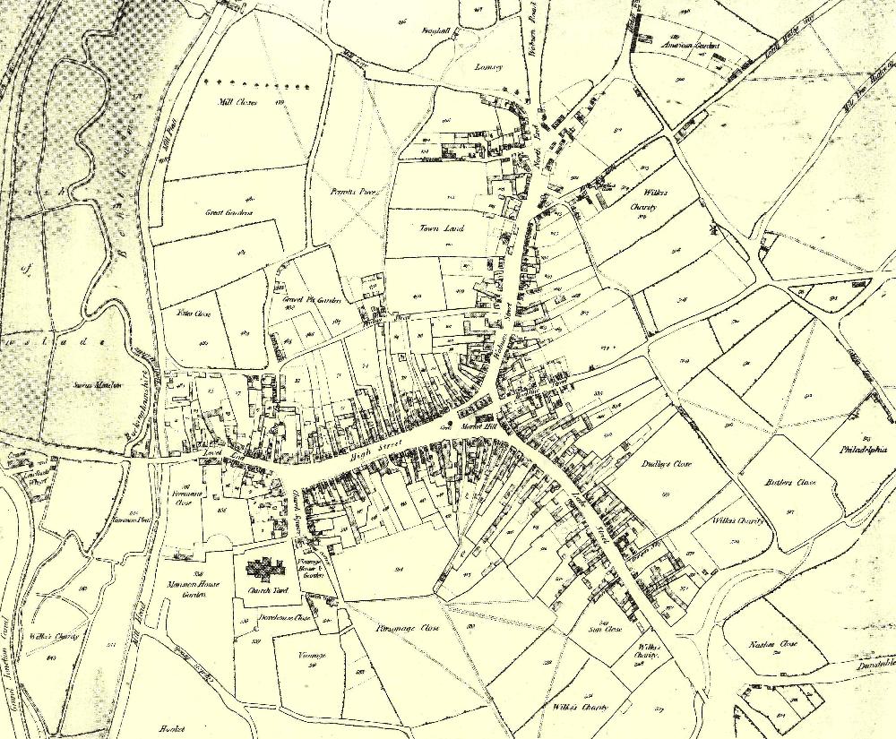Leighton Buzzard Map Hosted By Bedford Borough Council: 1819 Map of Leighton Buzzard