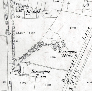 Bossington House and Farm in 1901