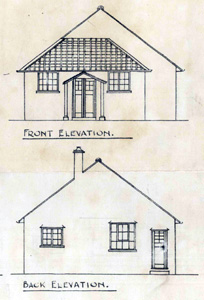 Dance hall front and rear elevations 1927