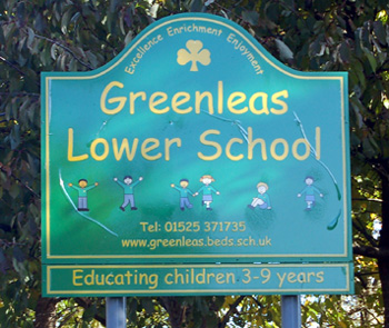 Greenleas Lower School sign