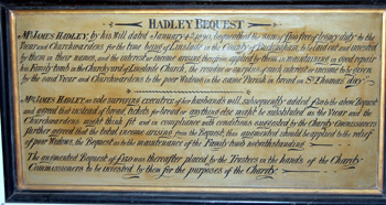 Hadley bequest text in May 2008