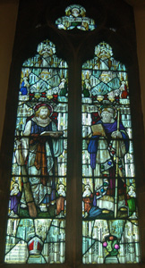 James Sheerman memorial window in north chapel of Saint Barnabas October 2008