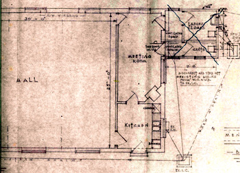 New chapel plan of rear of building 1954