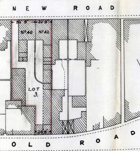 Plan of 40 and 42 New Road in 1938