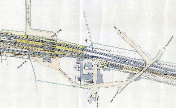 Plan of the station area