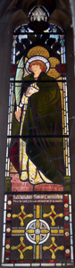 Saint Barnabas window in choir vestry October 2008