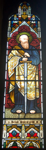 Saint Paul window in choir vestry October 2008