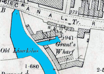 Site of Grants Wharf 1901