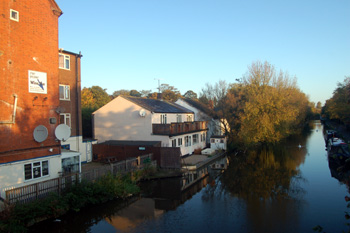Site of Whichellos Wharf seen from Leighton Road bridge October 2008