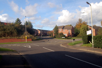Site of the Wing Road level crossing October 2008