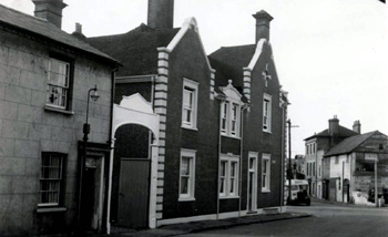 The Old Road frontage of the Railway Hotel in the 1960s