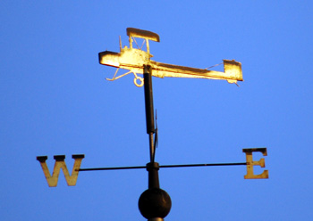 Vickers Vimy weathervane on the Tesco supermarket October 2008