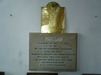 Pathfinders Memorial - copyright All Saints Little Staughton