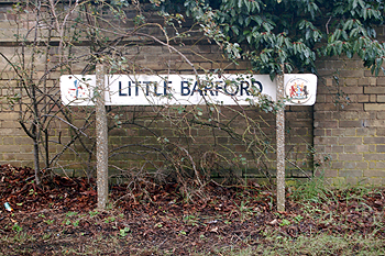 Little Barford sign February 2010