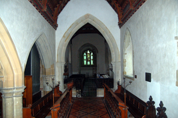 The chancel looking west February 2010