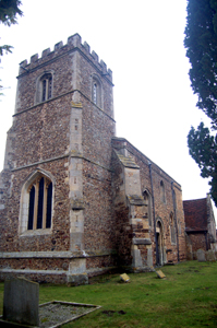 The church from the south-west February 2010