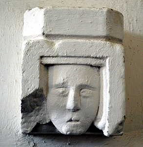 Corbel preserved on the south wall of the nave March 2014