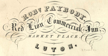 A Red Lion bill heading of 1838 [P35/5/2]