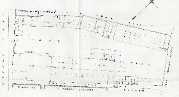 A site layout plan of Park Street brewery X95-253