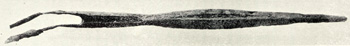 An Anglo-Saxon spearhead from Biscot shown in William Austin's History of Luton