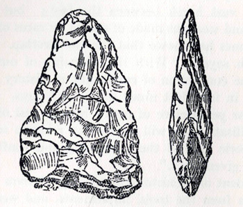 Palaeolithic implement found by William Gutteridge