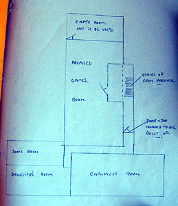 Sketch plan of the first floor of the Welcome Stranger in 1945 [PSL/3/36/1]