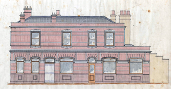 The Dog 1903 - proposed elevation to Langley Street [X843/1/56]