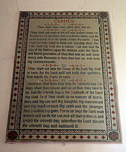 Decalogue on the north side of the east wall of the chancel October 2015