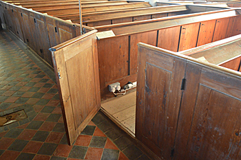 Pews on the south side of the nave October 2015