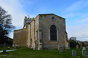 The church from the east February 2014
