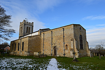The church from the south east February 2014