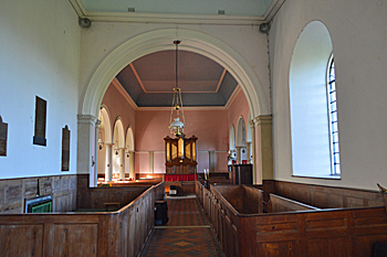 The interior looking west October 2015
