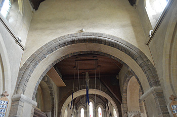 Nave arch into the central tower September 2014