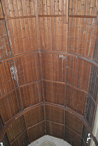 The chancel roof September 2014