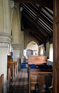 The south aisle looking east September 2014