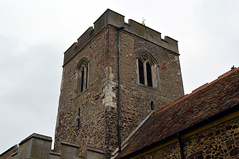 The south-east angle of the central tower September 2014