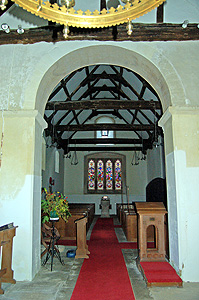 The interior looking west August 2007
