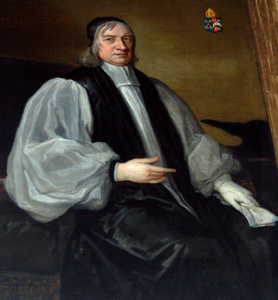 Painting of Edward Fowler in the north aisle May 2010