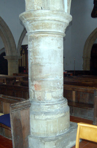 Column in the north arcade March 2011