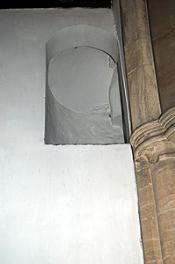 The exit onto the former rood loft on the south side of the chancel August 2011
