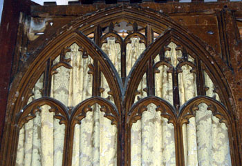 Upper portion of the screen in the south aisle March 2011