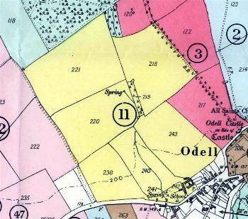 Village Farm land coloured yellow and numbered 11 on 1934 sale plan