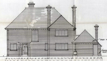 New Rectory north-east elevation 1935