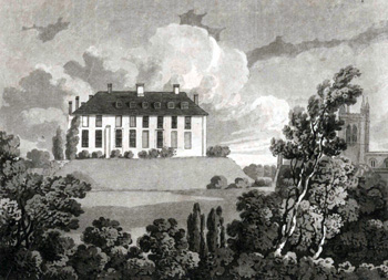 X254-88-201 Odell Castle in 1811 by Thomas Fisher