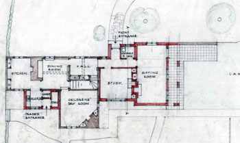 Ground floor plan of Parsonage Piece 1944