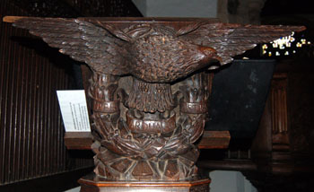 lectern in Old Warden Church March 2008