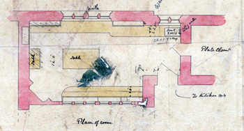 plan of butlers pantry 1877