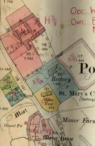 Manor Farm as annotated on the 1925 rating valuation map