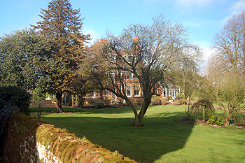 The rear of the Old Rectory February 2012