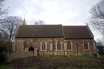 The church from the south January 2008